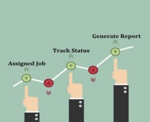 Web Application to track & generate Job status report
